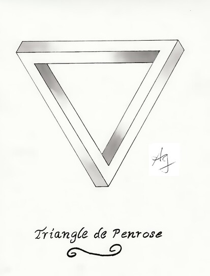 Illusion d'optique #1 Le triangle de Penrose