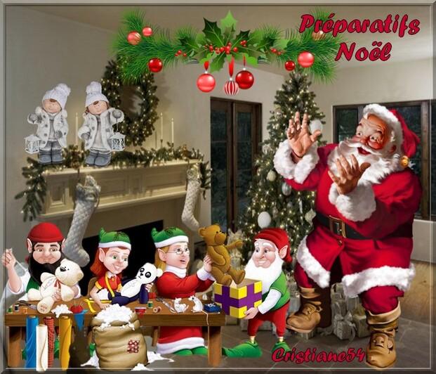 Les préparatifs de Noël (Défi fée Capucine )