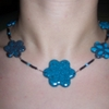 collier fleur turquoise VENDU