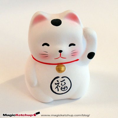 le chat du japon statuete