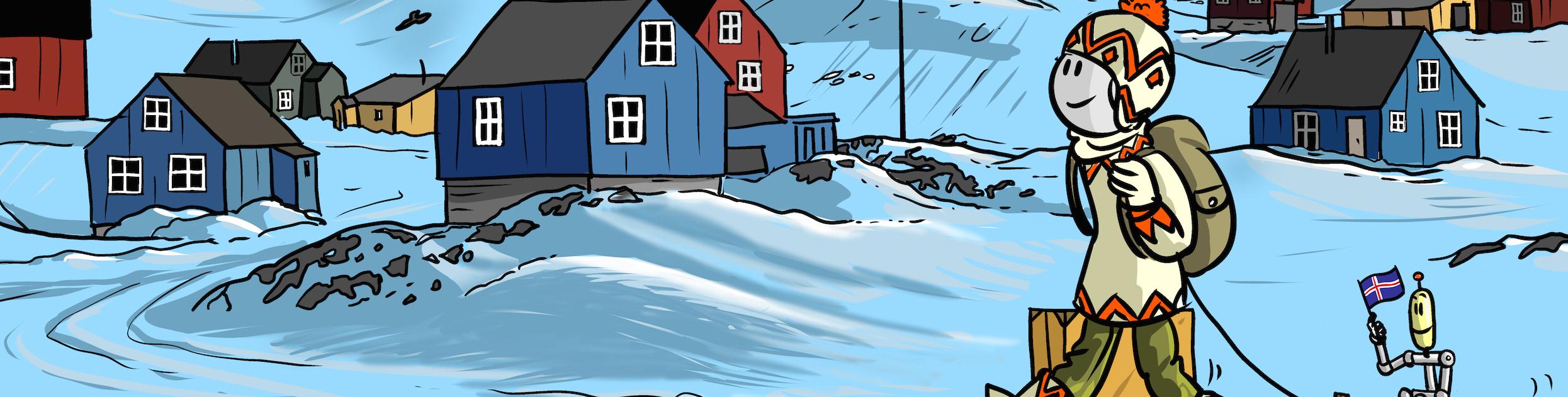 Tirobot en Islande le Step by Step