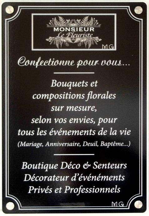 """""""Monsieur le Fleuriste"""" a ouvert une superbe boutique de fleurs, de décos, de senteurs et de décoration d'événements  à Châtillon sur Seine...."""