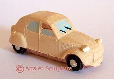 Décoration et objet souvenir miniature voiture 2CV - Arts et Sculpture: sculpteur designer