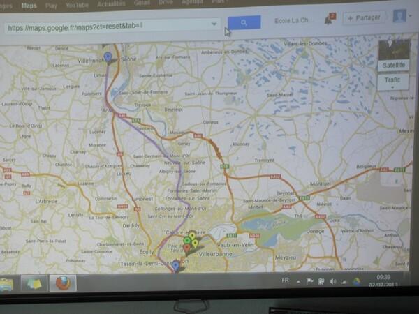 La carte interactive