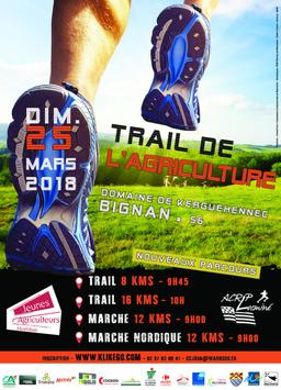 Trail de l'Agriculture - Bignan - Dimanche 25 mars 2018