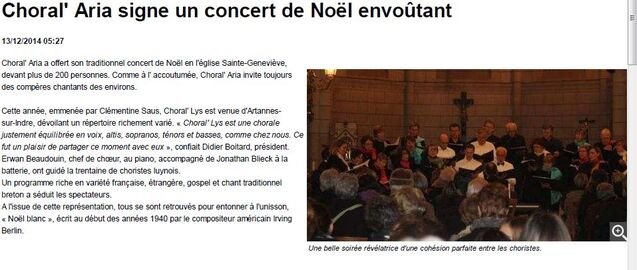 Concert de Noel 2014