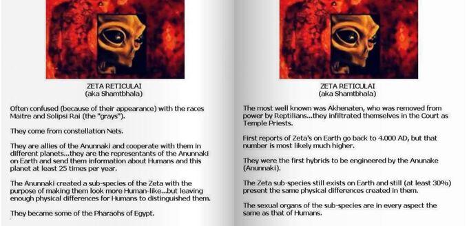 Le livre Russe des races extraterrestres