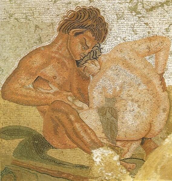Mosaïque trouvée dans la maison du Faune à Pompei