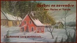Québec en novembre     c'est parti