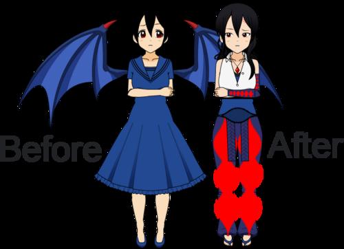 Comparaison d'un même perso' sur Kisekae