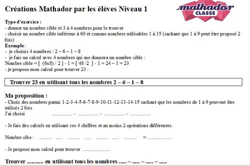 Mathador Saison 2 : des outils pour les élèves