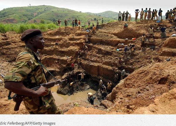 Mine de tantale au Congo
