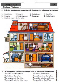 A l 39 encre violette anglais for Anglais vocabulaire maison