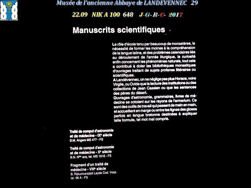 Le musée 6/9 de l'ancienne Abbaye de  LANDEVENNEC     D     07/02/2019