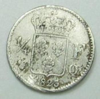 Quart de franc Louis XVIII  1823 Q 005.jpg revers