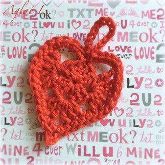 Coeur au crochet Le TUTO
