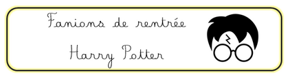Fanions de rentrée Harry Potter