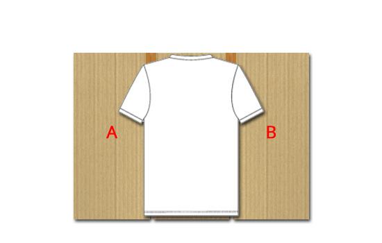Poser le recto du vêtement sur la machine à plier les t-shirts face à vous