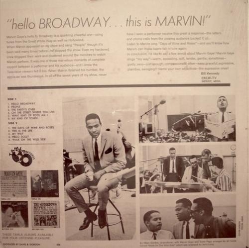 "Marvin Gaye : Album "" Hello Broadway "" Tamla Records TS 259 [ US ]"