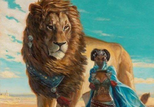 lion-et-femme-500x348