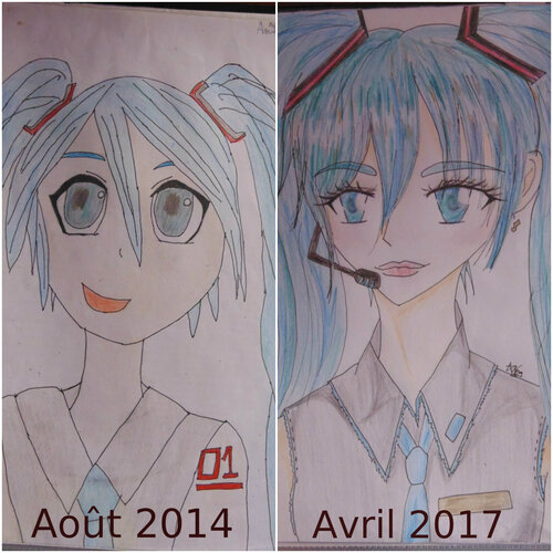 Redrawing Old Art Challenge + Autres dessins