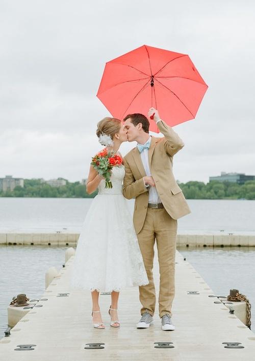 mariage pluvieux au printemps