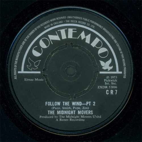 1973 : Single SP Contempo Records CR 7 [ UK ]