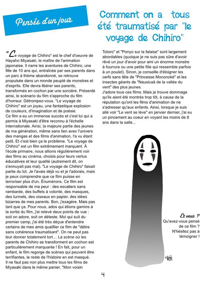 """""""Le voyage de Chihiro"""" - Pensées d'un jour - PsJ 25"""