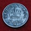 5 soldi 1814 M   Napoléon Ier revers