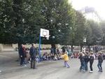 Inauguration des panneaux de basket