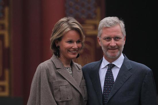 Mathilde et Philippe au palais d'été