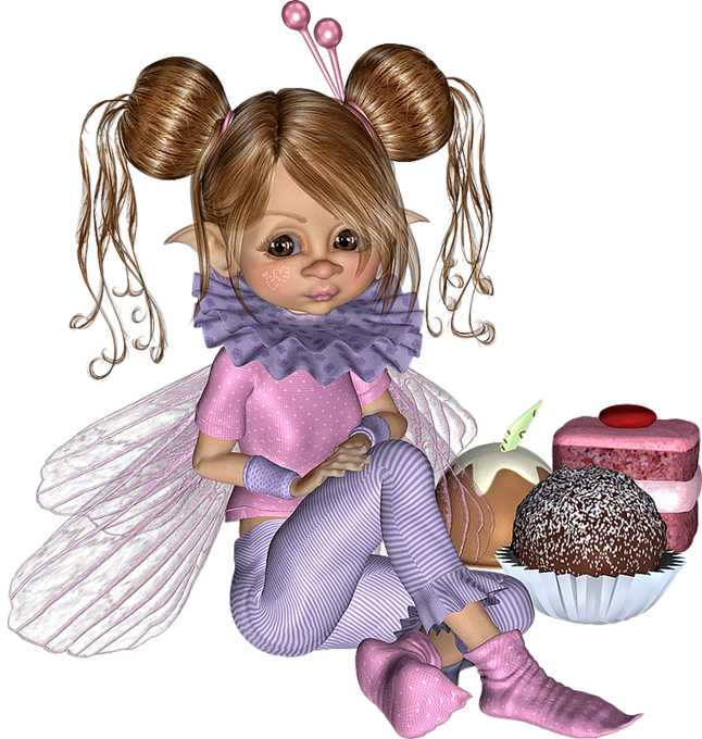 Tubes Cookies Ange Papillon