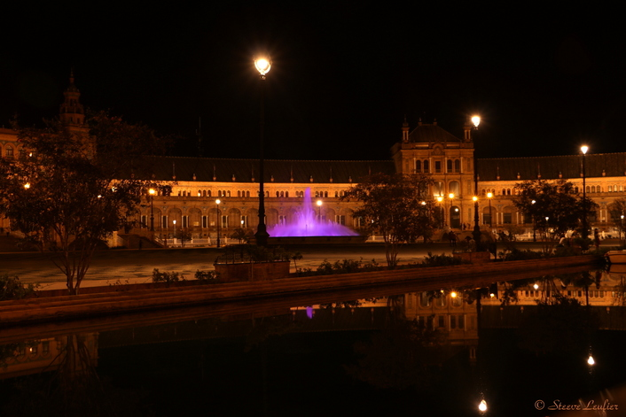 Plaza de España by night, Séville