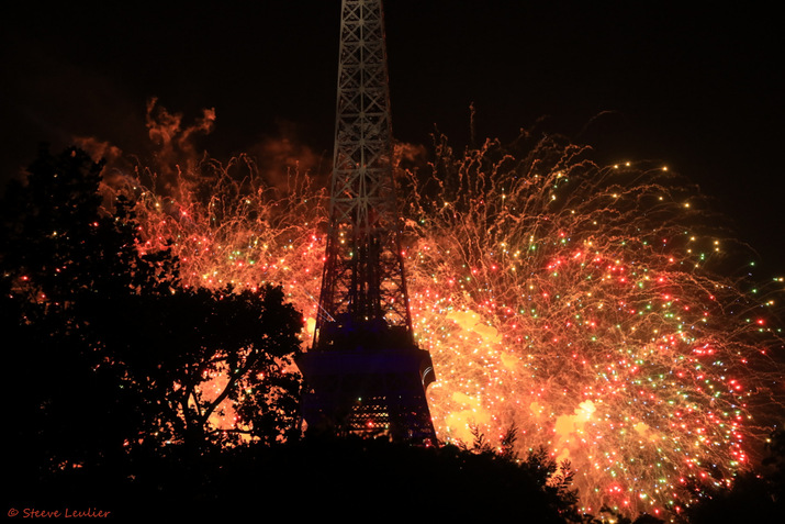 Feu d'artifice du 14 Juillet 2019, Champ de Mars, Paris