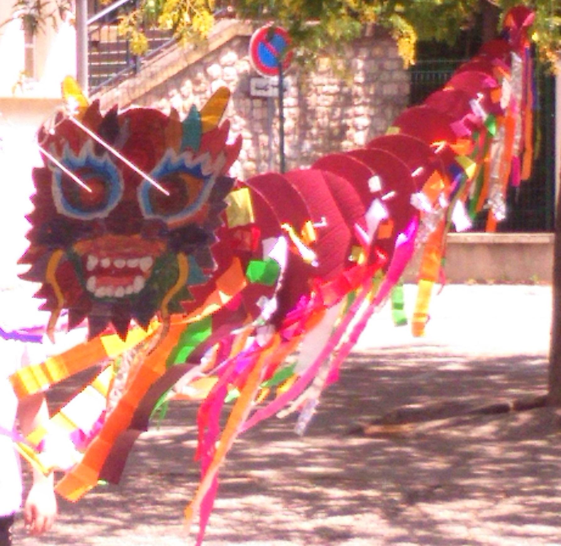 Dragon Chinois Cerf Volant La Fouine En Clis