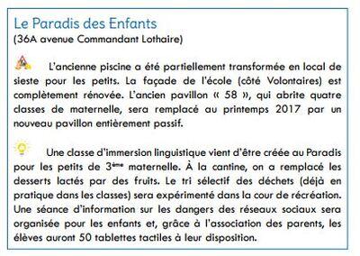 [Ecole] On parle du Paradis dans la presse etterbeekoise...
