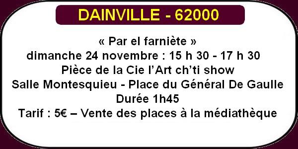 Les loisirs à Arras et ses environs - week-end du 22 au 24 novembre.