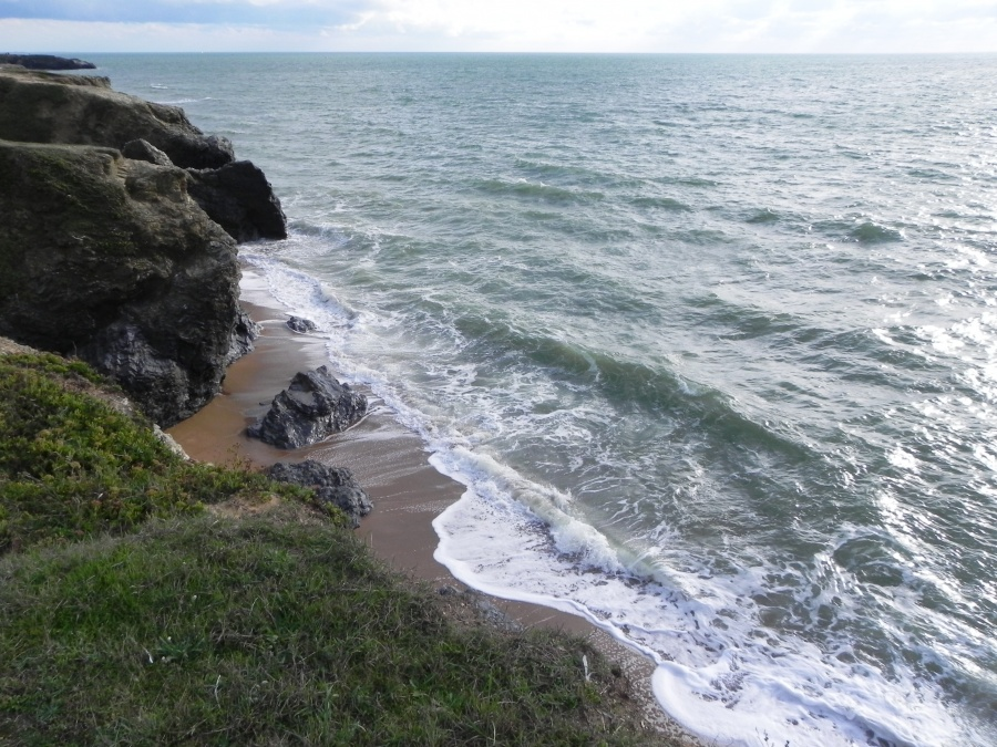 La côte à Saint Hilaire de Riez en Vendée