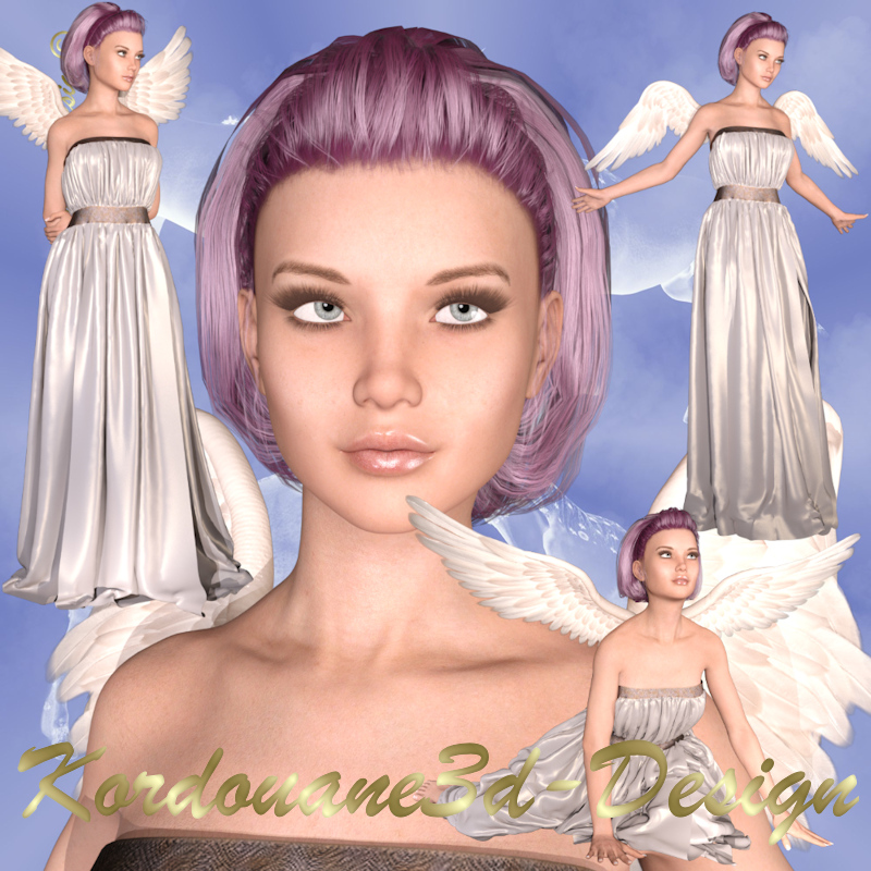 Angelique : 4 tubes de femme ange (image-png)