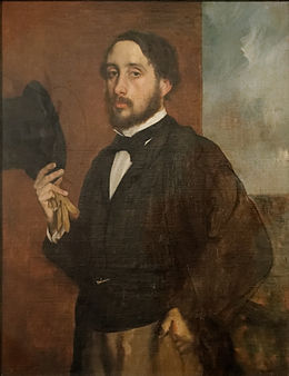 Self portrait or Degas Saluant, Edgar Degas.jpg