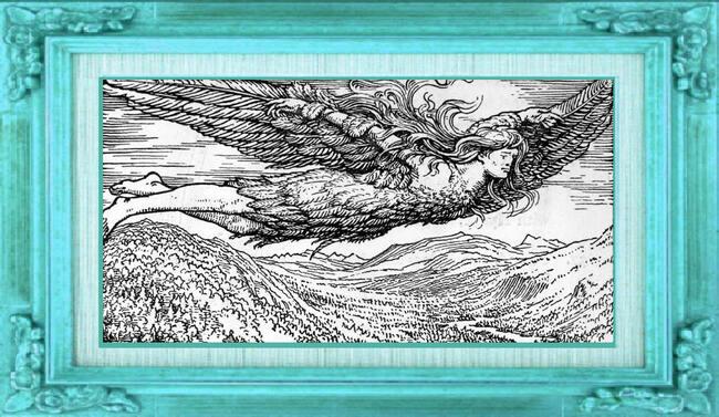 Le vol de Loki dans laThrymskvitha. W.G. Collingwood