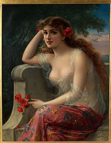 Emile Vernon, Girl with a Poppy