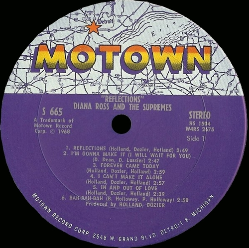 """Diana Ross & The Supremes : Album """" Reflections """" Motown Records MS 655 [US]"""