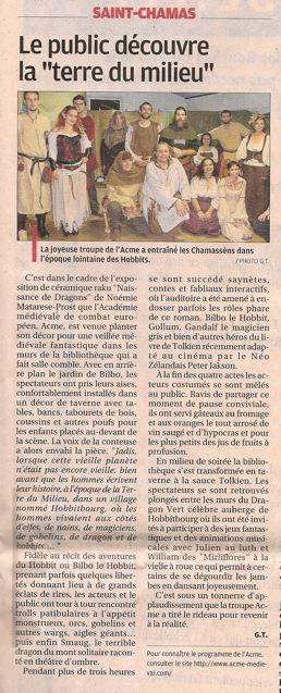 2 articles de presse concernant la veillée à St Chamas du 15/12/12
