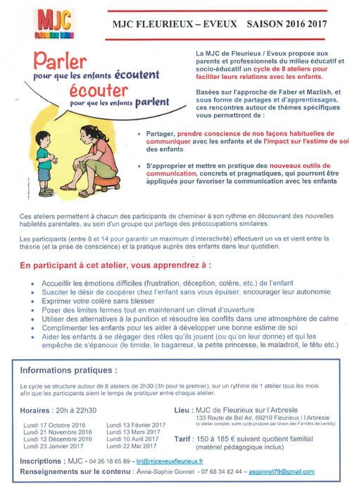 Ateliers communication parents/enfants