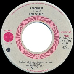 Renée Claude : Le bonheur (1979)