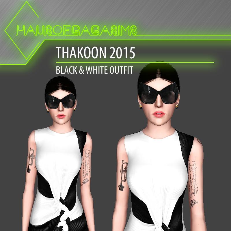 THAKOON 2015 BLACK & WHITE OUTFIT