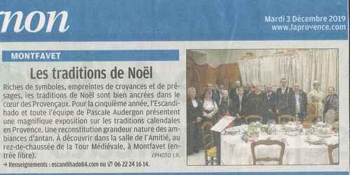 Traditions calendales en Provence décembre 2019
