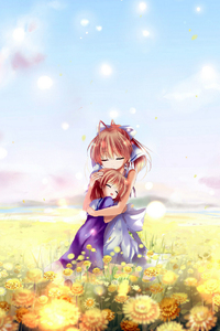 nagisa et sa fille kawaii wallpaper