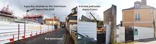 De nouveaux travaux en face du Clos Saint-Louis